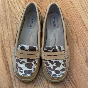 Sperry Animal Print Shoes - Size 6
